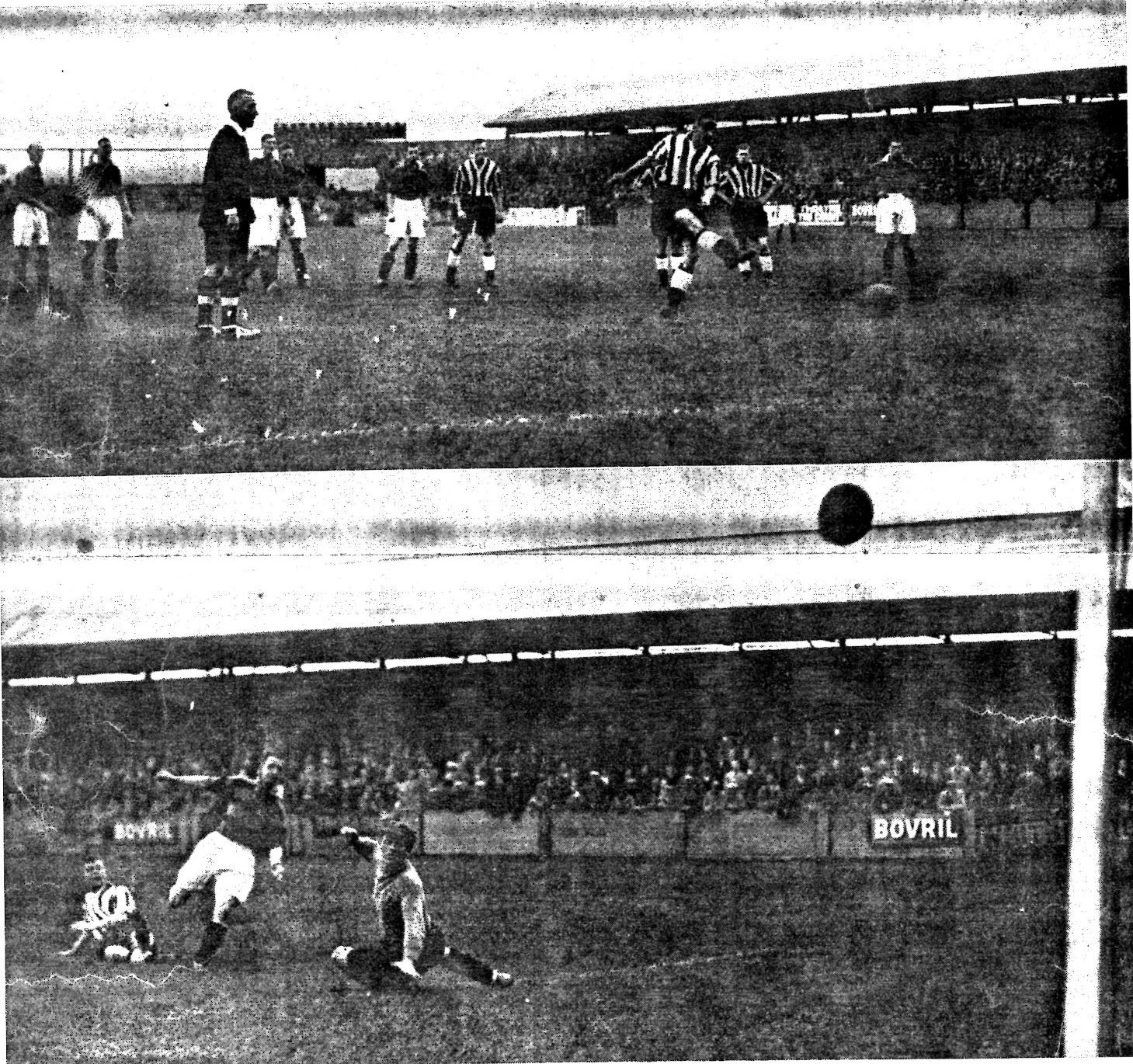 Two goals scored v Stockport in Oct 1938