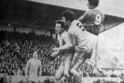 Joe Royle scores the only goal. Southport 0 v 1 Everton, 27/01/68