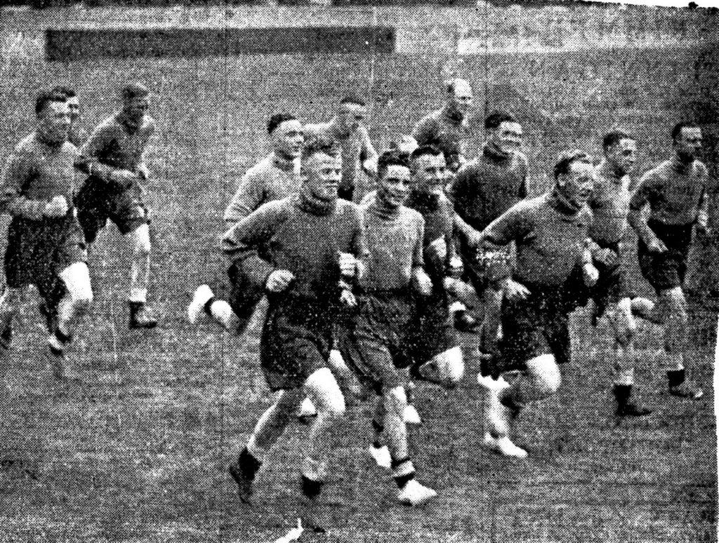 Pre-Season training at Haig Avenue 1937/38