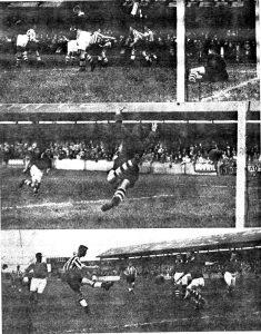 Three goals against Wrexham in 1938