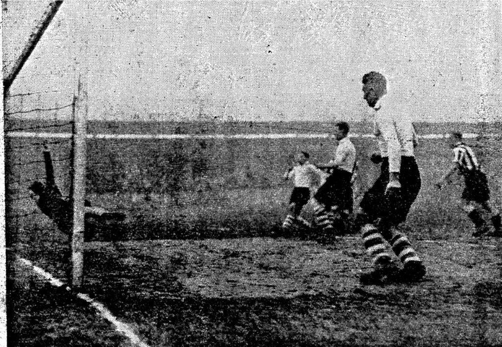 Carter scores Southport's first goal against Chester in December 1935