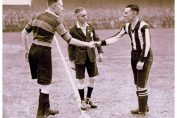 February 1931 SFC (stripes) Vs Bradford PA in FA Cup which Port won 1-0 - for a place against Everton in the 6th Round