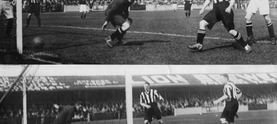 Accrington 12/9/1931 Cowen & Waterston goals